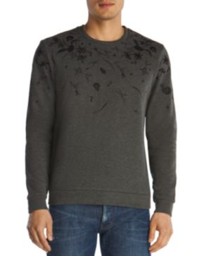 The Kooples Embroidered Fleece Sweatshirt