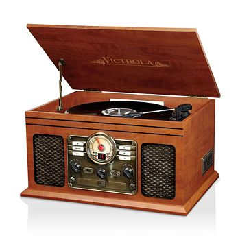 Innovative Technology - Victrola 6-in-1 Nostalgic Bluetooth Record Player with 3-Speed Turntable
