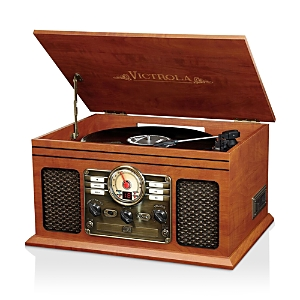 Innovative Technology Victrola 6-in-1 Nostalgic Bluetooth Record Player with 3-Speed Turntable