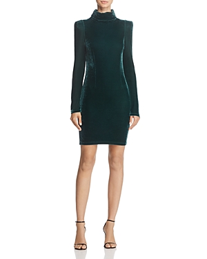 Guess Olga Turtleneck Velvet Dress