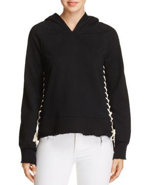 Pam & Gela Hollywood Lace-Up Hoodie Sweatshirt