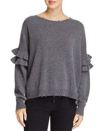 Current/Elliott - The Ruffle Distressed Wool Sweater