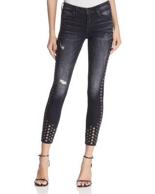 Halle Super Skinny Jeans In Rock Solid Wash