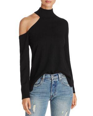 Love Scarlett Shoulder Cutout Turtleneck Sweater