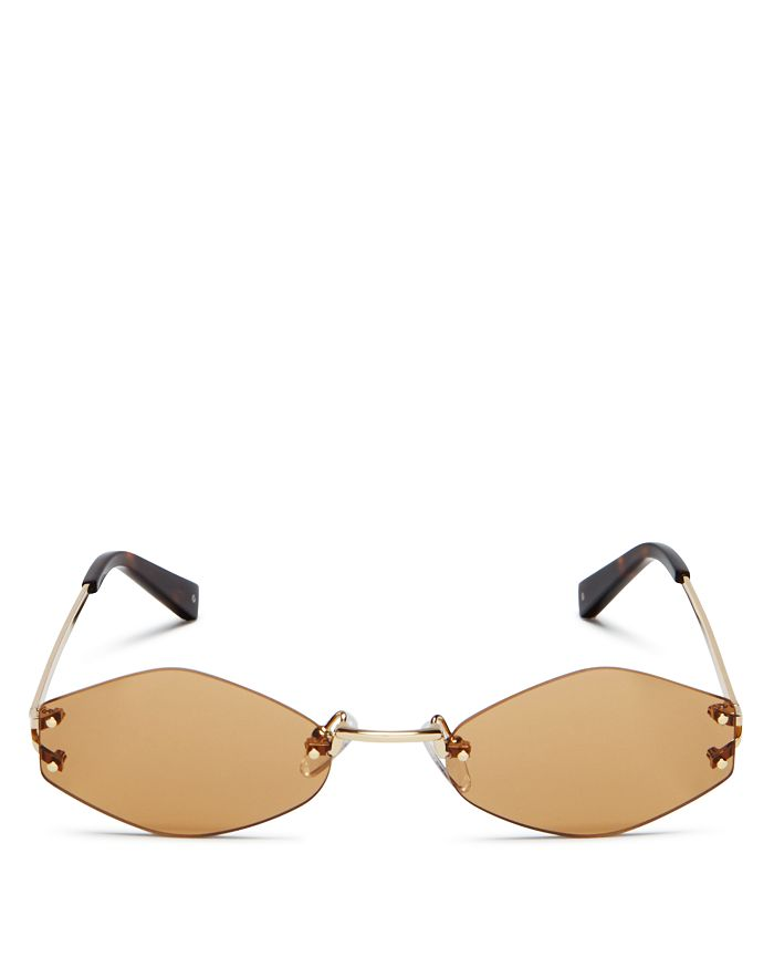 Kendall + Kylie - Women's Kye Rimless Oval Sunglasses, 51mm