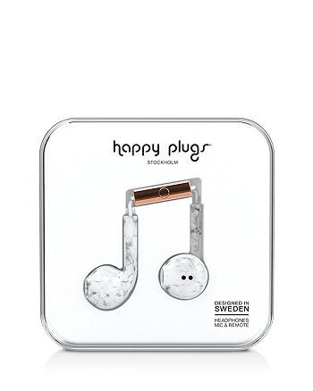 Happy Plugs - Earbud Plus Marble Print In-Ear Headphones
