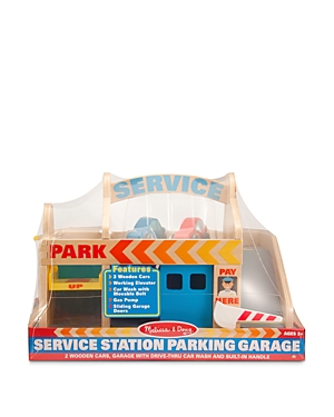 Melissa & Doug Service Station, Car Wash & Parking Garage Toy Set - Ages 3+
