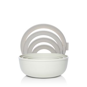 Food52 Rosti Microwavable Shallow Nested Storage Bowls, Set of 4, Grey
