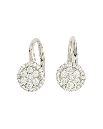 Frederic Sage - 18K White Gold Firenze Diamond Small Cluster Earrings