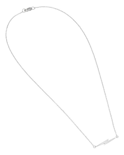 "Shinola - Sterling Silver Bolt Pendant Necklace, 16"""