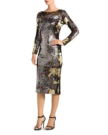 Dress the Population - Emery Long-Sleeve Sequin Dress