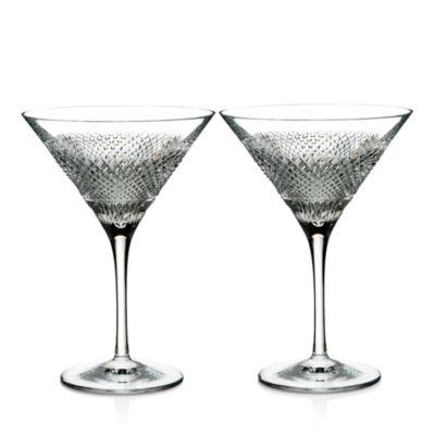Waterford Diamond Line Martini Glasses, Set of 2 - Bloomingdale's Registry