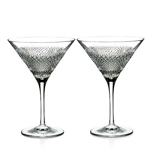 Waterford - Diamond Line Martini Glasses, Set of 2