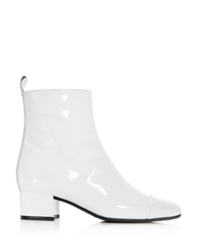 Carel - Women's Estime Patent Leather Block Heel Booties