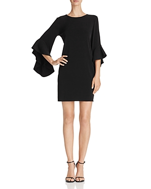 Laundry by Shelli Segal Three-Quarter Bell Sleeve Dress