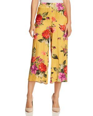 Alice + Olivia Elba Floral-Print Ankle Pants