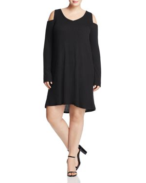 Love Ady Plus Cold Shoulder Ribbed Knit Dress - 100% Exclusive