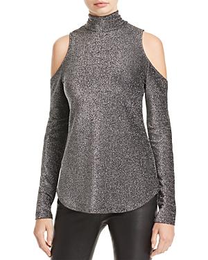 Karen Kane Metallic Cold Shoulder Top - 100% Exclusive