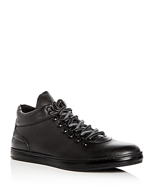 Kenneth Cole Men's Brand Tour Leather Mid Top Sneakers