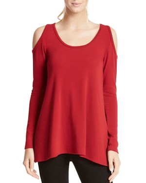 Karen Kane Cold Shoulder High Low Top