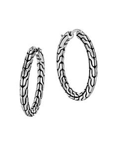 John Hardy Sterling Silver Classic Chain Hoop Earrings - Bloomingdale's_0