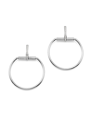 Roberto Coin 18K White Gold Classic Parisienne Diamond Medium Round Earrings