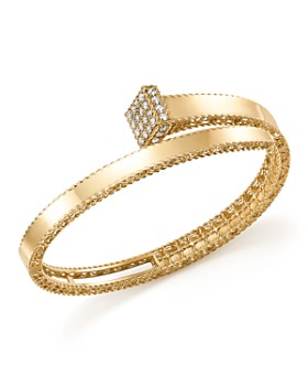 Roberto Coin - 18K Yellow Gold Princess Chiodo Diamond Bangle - 100% Exclusive