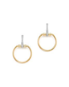 Roberto Coin - 18K Yellow & White Gold Classic Parisienne Diamond Small Round Earrings