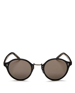 Oliver Peoples Round Sunglasses, 47mm