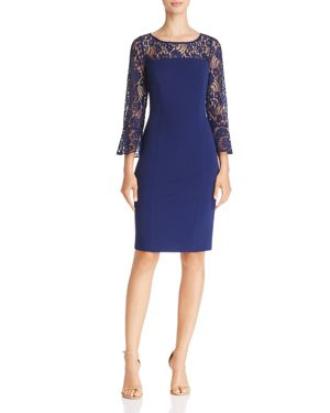 Adrianna Papell Lace-Detail Sheath Dress