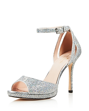 kate spade new york Women's Franklin Glitter Platform High Heel Sandals
