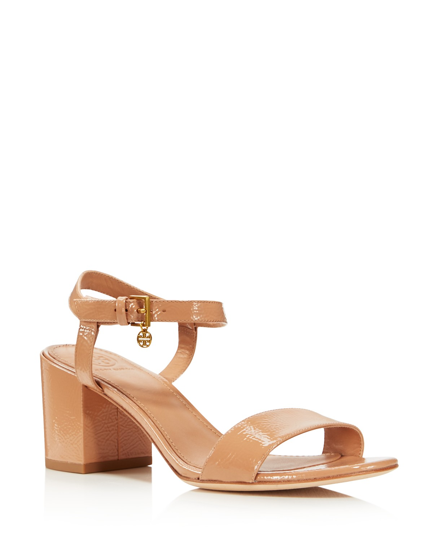 Tory Burch Women's Laurel Patent Leather Ankle Strap Sandals - 100% Exclusive Finishline Sale Online Sale Online Cheap Fashion Style Clearance Store Sale Online PyH41pjSl