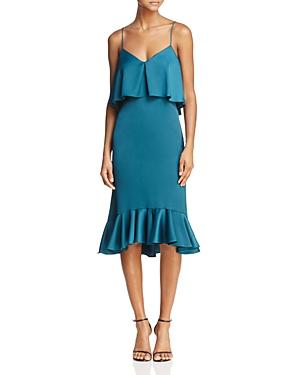 Likely Ardsley Ruffled-Hem Midi Dress
