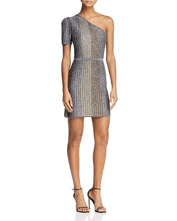 Parker - Clara One-Shoulder Sparkle Mini Dress