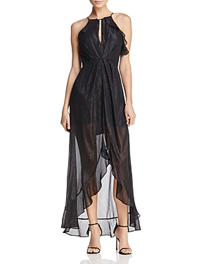 Astr Arielle Metallic Maxi Dress
