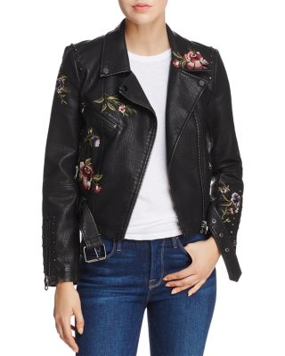 Vegan Leather Moto Jacket in Life Lessons (Big Kids). Blank NYC Kids