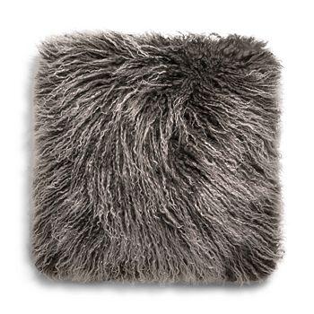 """UGG® - Mongolian Sheepskin Fur Decorative Pillow, 16"""" x 16"""""""