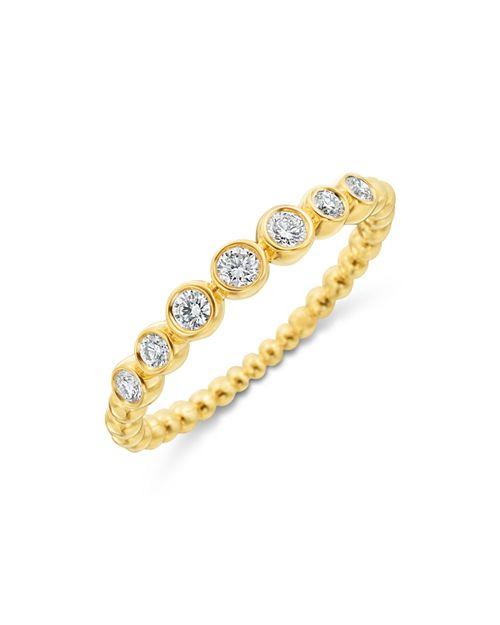 Gumuchian - 18K Yellow Gold Seven Diamond Nutmeg Ring