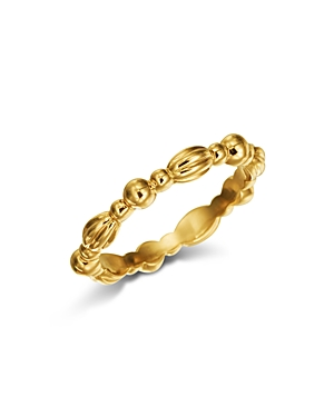 18K Yellow Gold Stackable Nutmeg Band