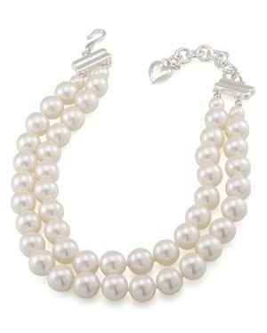 Carolee Double Row Adjustable Necklace, 16