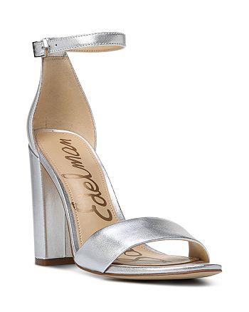 fd986336092b Sam Edelman Women s Yaro Metallic Leather Block Heel Sandals ...