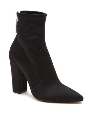 Dolce Vita Women's Elana Satin High Heel Booties