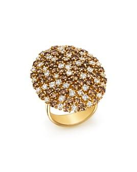 Roberto Coin - 18K Yellow Gold Brown & White Diamond Cluster Ring