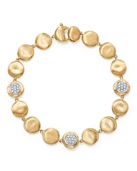 Marco Bicego - 18K Yellow Gold Diamond Pavé Jaipur Link Small Beaded Bracelet