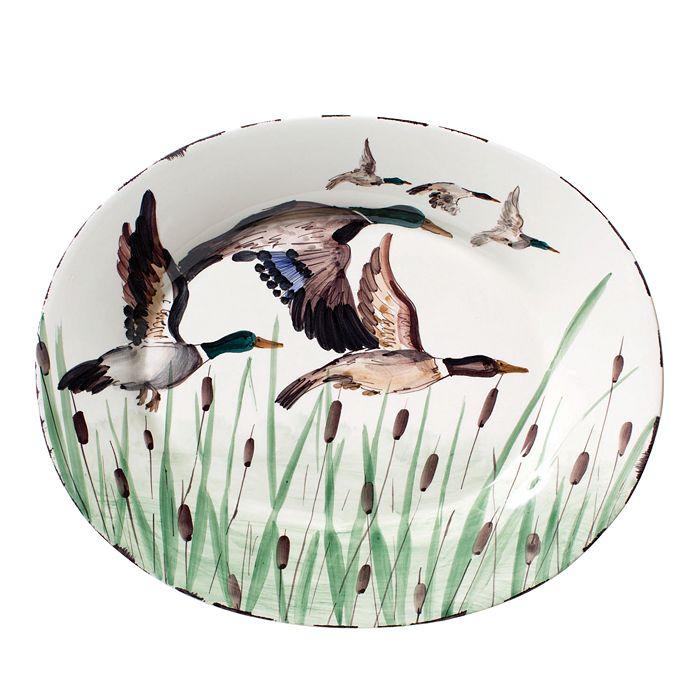 VIETRI - Wildlife Mallard Large Oval Platter