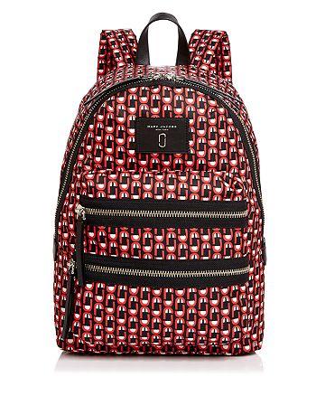 MARC JACOBS - Biker Logo Scream Print Backpack