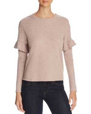 MARC NY PERFORMANCE PERFORMANCE RUFFLE TRIM THERMAL TOP