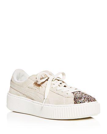 1fc0dd399e2a PUMA Women s Crushed Gem Suede Lace Up Platform Sneakers ...