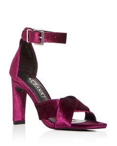 dd9edaa215b VINCE CAMUTO Women s Carrelen Suede Bow Block Heel Sandals - 100 ...