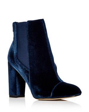 Sam Edelman Women's Case Velvet Cap Toe High Heel Booties